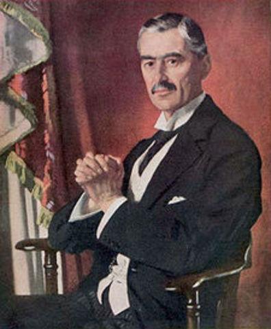 Neville Chamberlain took over as Prime Minister