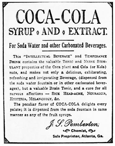 Coca-Cola Formula invented as Patent Medicine