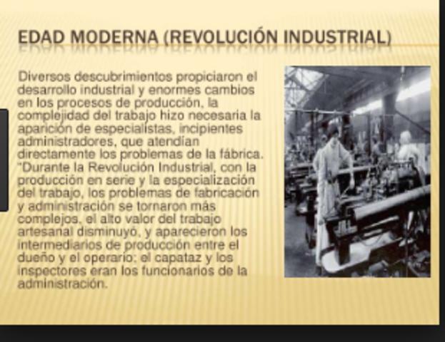 Revolución Industrial (Edad Moderna)