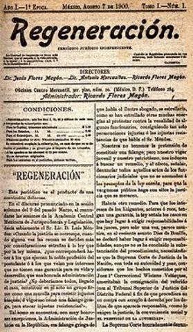 Se publica el periódico Regeneración de los hermanos Flores Magón