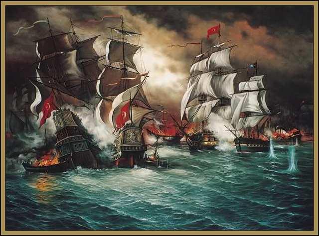 Al mando de ciento ochenta buques