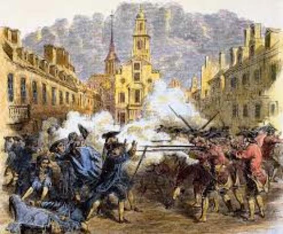 Boston Massacre, 1770