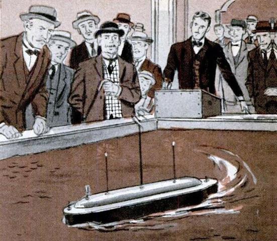 Primer barco controlado por radio
