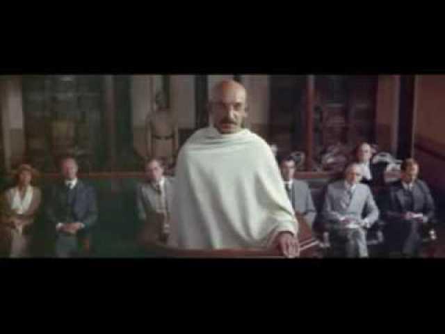 Gandhi travels stressing nonviolent resistance
