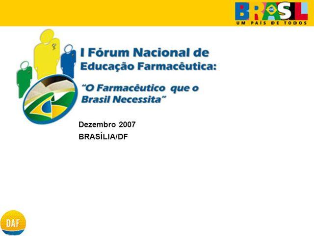 I Forum Nacional de Educação Farmacêutica