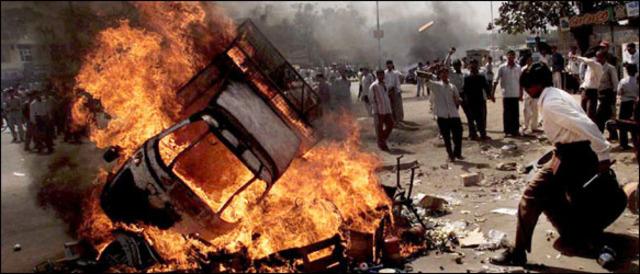 WW2-Riots betwwen Hindus and Muslims.