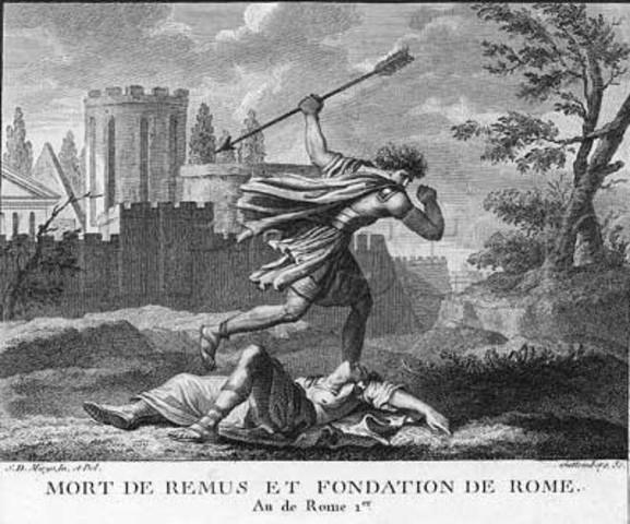 Muerte de Rómulo