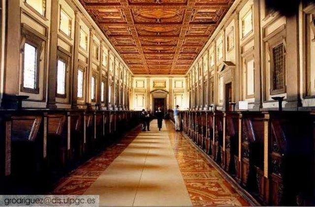 Biblioteca Laurenciana, Florencia, Italia.