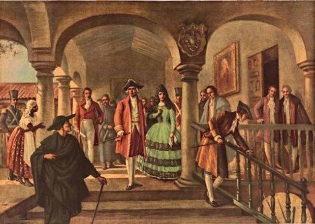 Los notables de Santafé se reúne con el virrey Amar para acordar nueva forma de gobierno