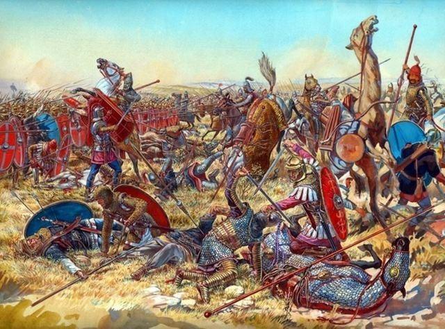 Los alamanes invaden Alsacia. Batalla de Argentovaria