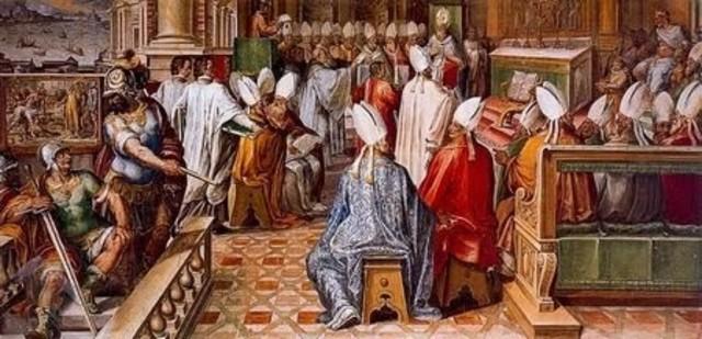 Teodosio I promueve el Concilio de Constantinopla