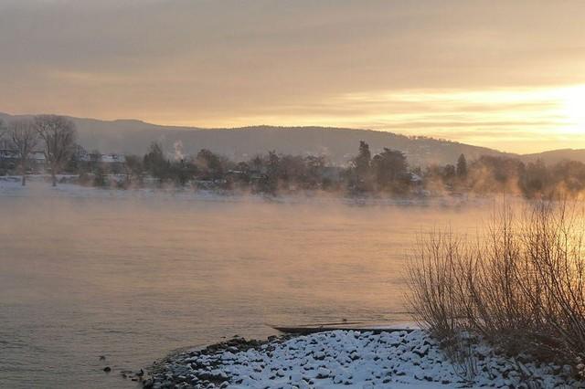 Se congela el Río Rin