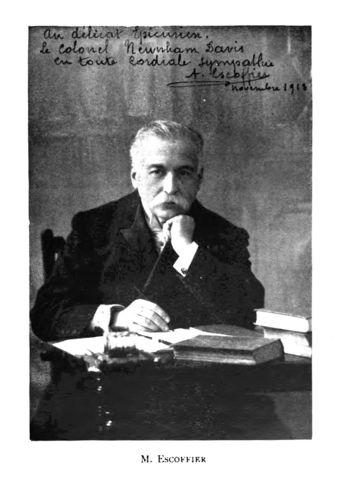 Auguste Escoffier (28 de octubre de 1846-12 de febrero de 1935)