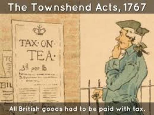 Townshend Acts, 1767