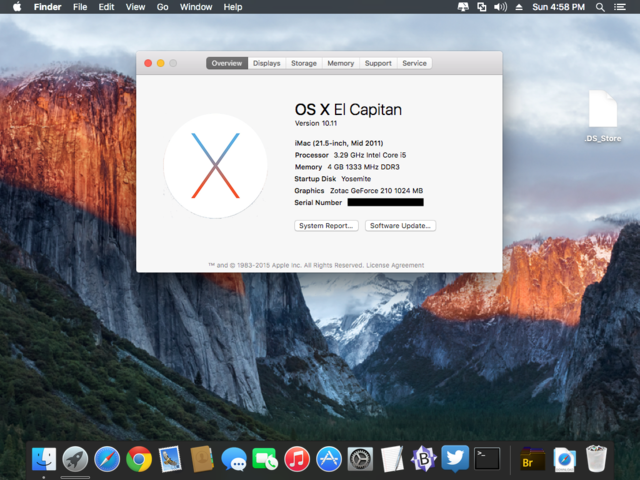 2015: Mac OS X 10.11 El Capitan