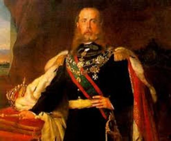 Maximiliano se convierte en emperador de México