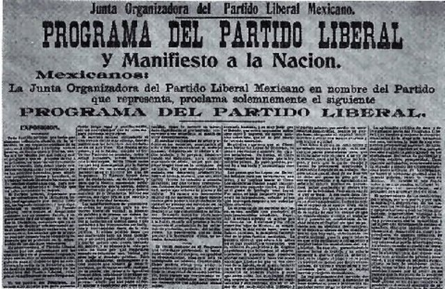 Partido Liberal Mexicano a la nación