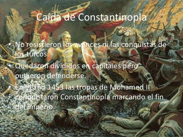 La caída del Imperio Romano de Oriente - Constantinopla