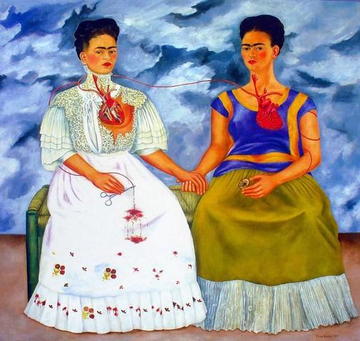 """Termina de pintar el autorretrato """"Las dos Fridas"""""""