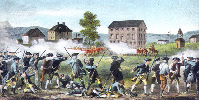 Battles at Lexington and Concord, 1775