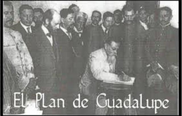 redacción del plan de Guadalupe