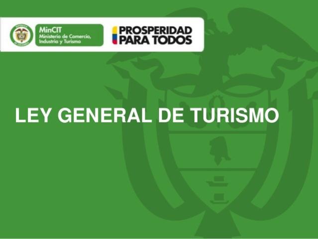 Publicación de LA LEY GENERAL DE TURISMO