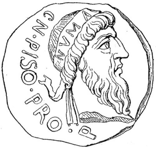 NUMA POMPILIO -  SEGUNDO REY (716-674 a. C.)