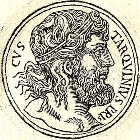 TARQUINO EL ANTIGUO - QUINTO REY (c. 616 a. C.-c. 578 a. C.)