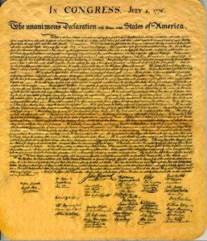 America Declares Independence from Great Britain,