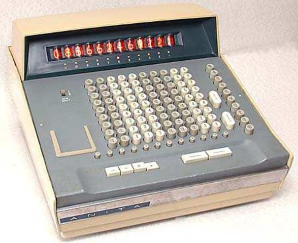 Texas Instruments utiliza un microprocesador en una calculadora debolsillo. Da lugar a la 4ª generación de los ordenadores.