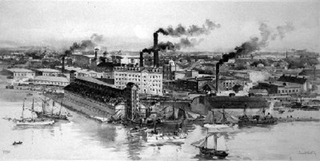 Industrialization of Toronto and Montreal