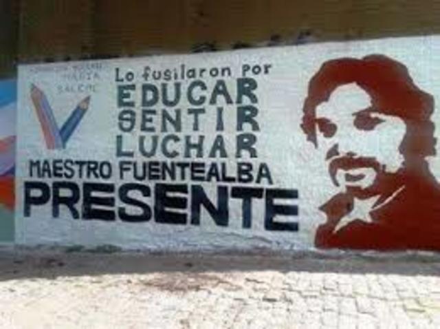 Profesor Carlos Fuentealba presente