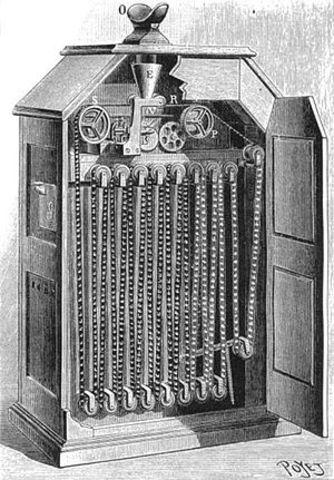 Creación del quinetoscopio o kinetoscopio