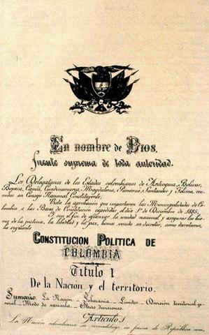 Implementación de la primera Constitución.