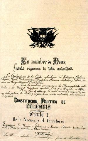 Constitución de 1886 (Constitución Actual)