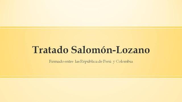 Tratado Salomón-Lozano