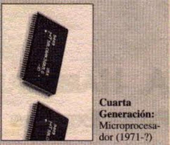 INICIO DE LA  4° GENERACIÓN DE LAS COMPUTADORAS