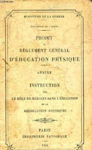 Projet de règlement général d'éducation physique