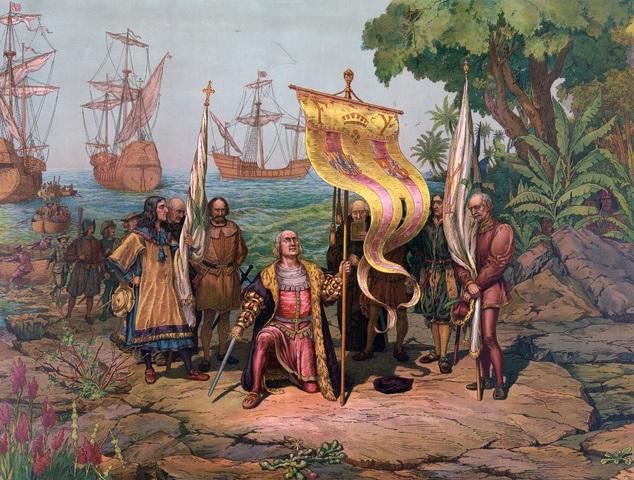 Columbus Sets Foot in the Bahamas