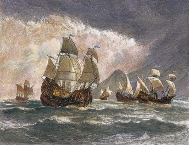 Magellan Heads Toward the New World
