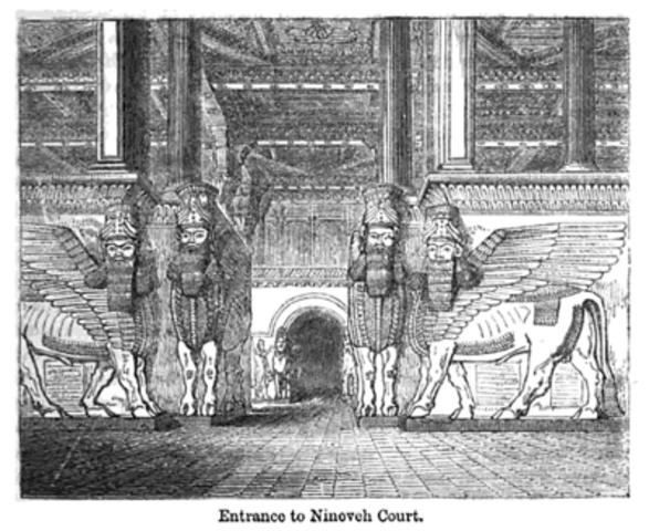 Excavaciones de la corte de Nínive