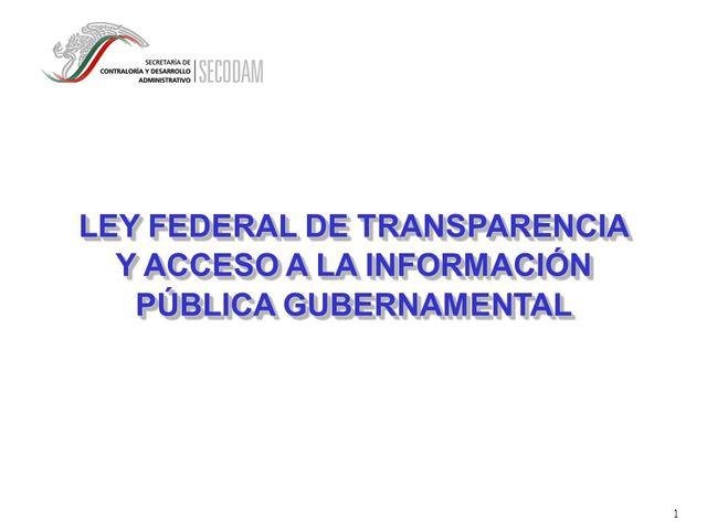 Reglamento LFTAIPG y Reglamento Interior del IFAI