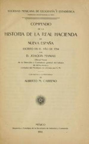 Compendio de la historia de la Real Hacienda de la Nueva España