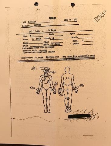 Lloyd McGowan Medical Injury Report For Self Harm