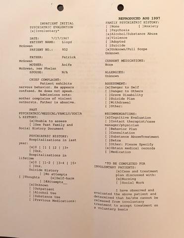 Lloyd McGowan Reproduced Psych Evaluation