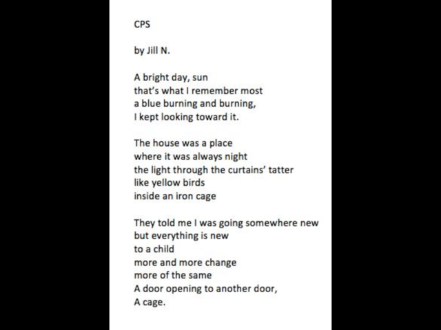 Post On Facebook Announcing Poetry Contest Winners - Jill's Poem