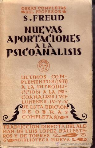 Nuevas aportaciones al psicoanálisis.