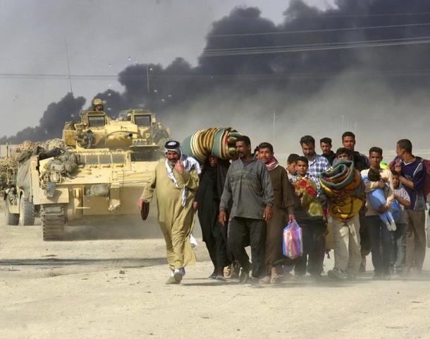 INICI DE L'INVASIÓ DE L'IRAQ