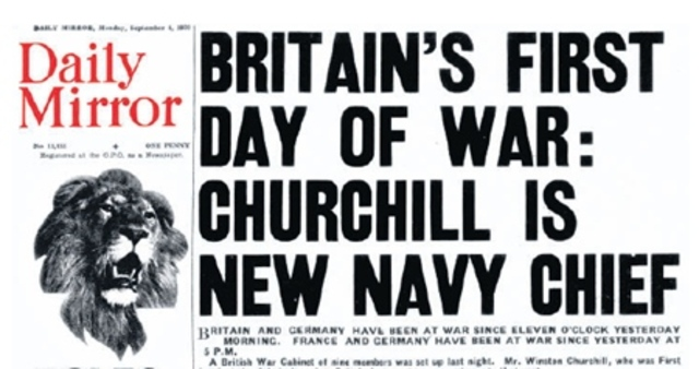 Great Britain declares war on Germany