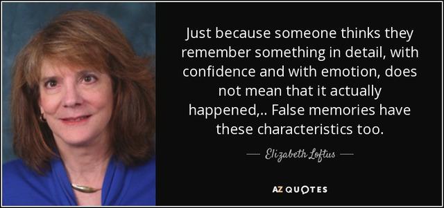Elizabeth Loftus.
